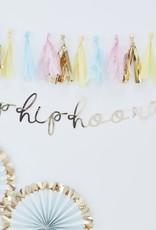Gouden hip hip hooray banner