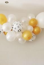 Ballonnenslinger voetbal: Wit-goud