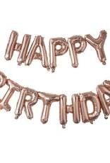 Happy birthday ballon: Rosé