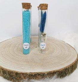 Droogbloemen in buisje: Blauw