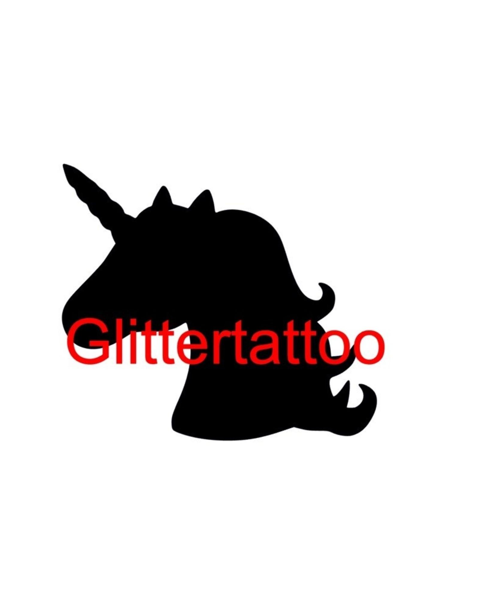 Momof3 5 sjablonen glittertattoo: Unicorn