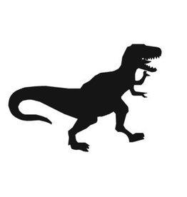5 sjablonen glittertattoo: Dino