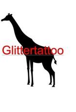 5 sjablonen glittertattoo: Giraf
