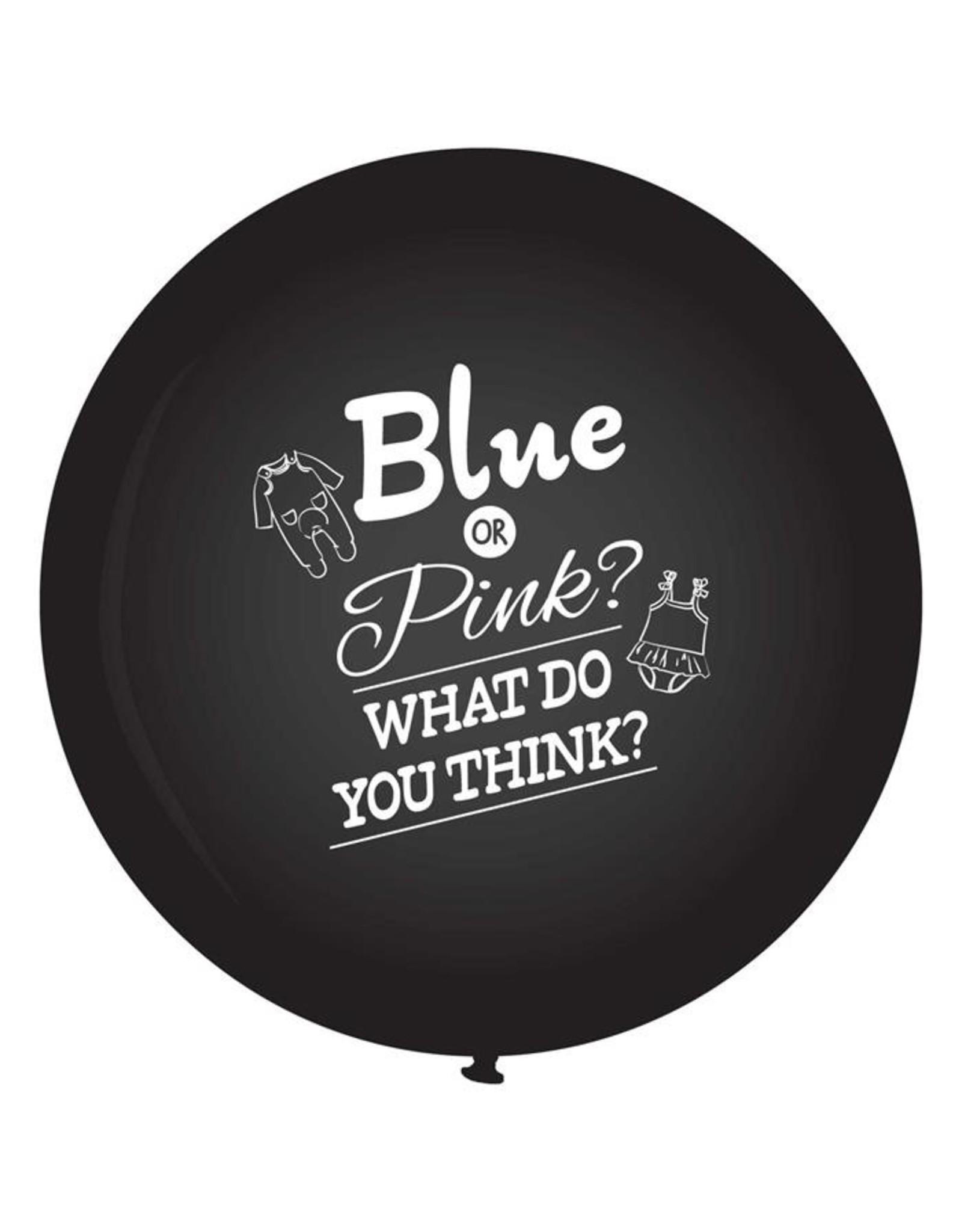 ballonnen XXL Gender Reveal zwart 90 cm
