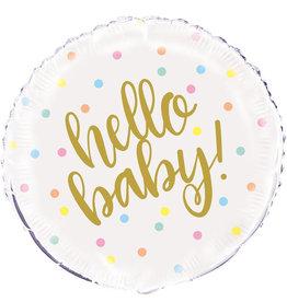 Folieballon: Hello baby