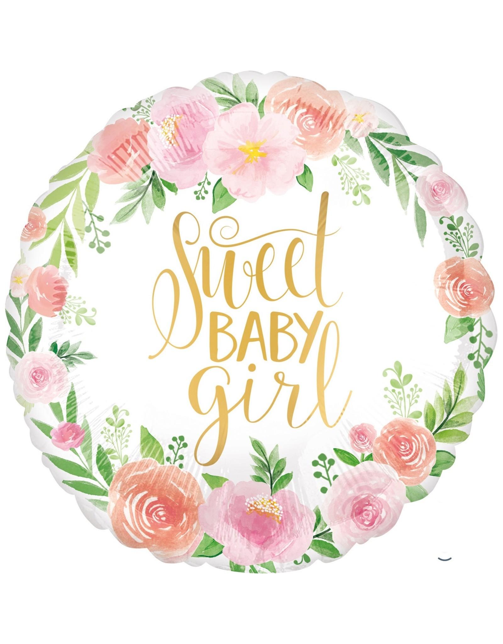 Folieballon: baby girl