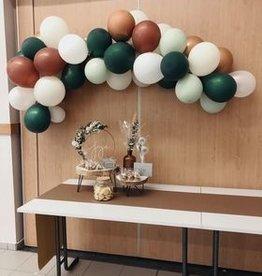 Ballonnenboog: Mint/groen/koper/wit