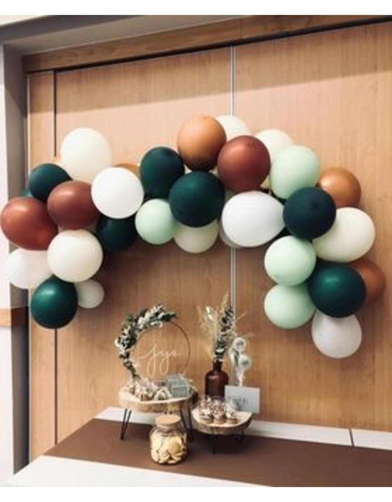 Ballonnenboog: Mint/grn/koper/wit