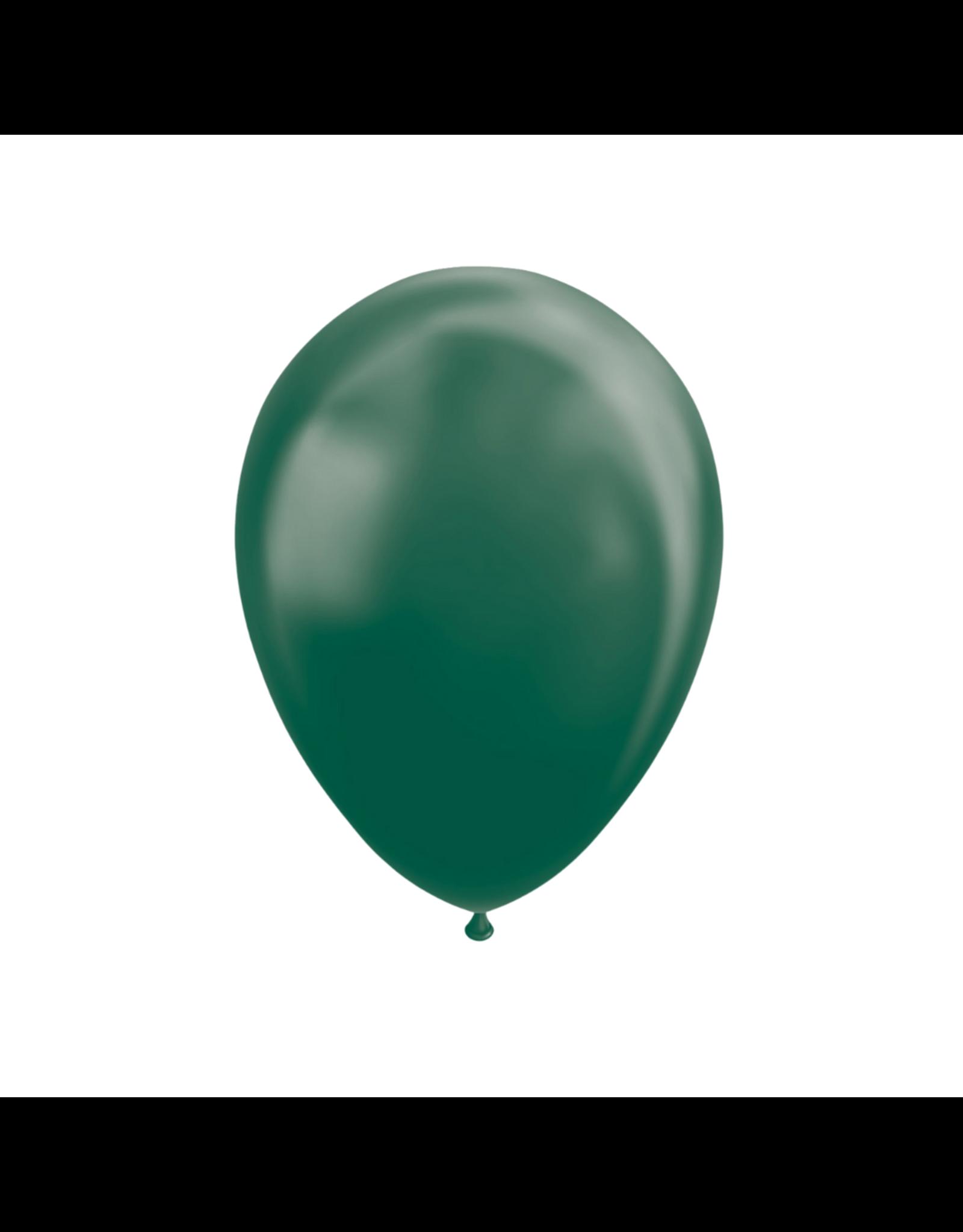 10x Metallic groene ballonnen