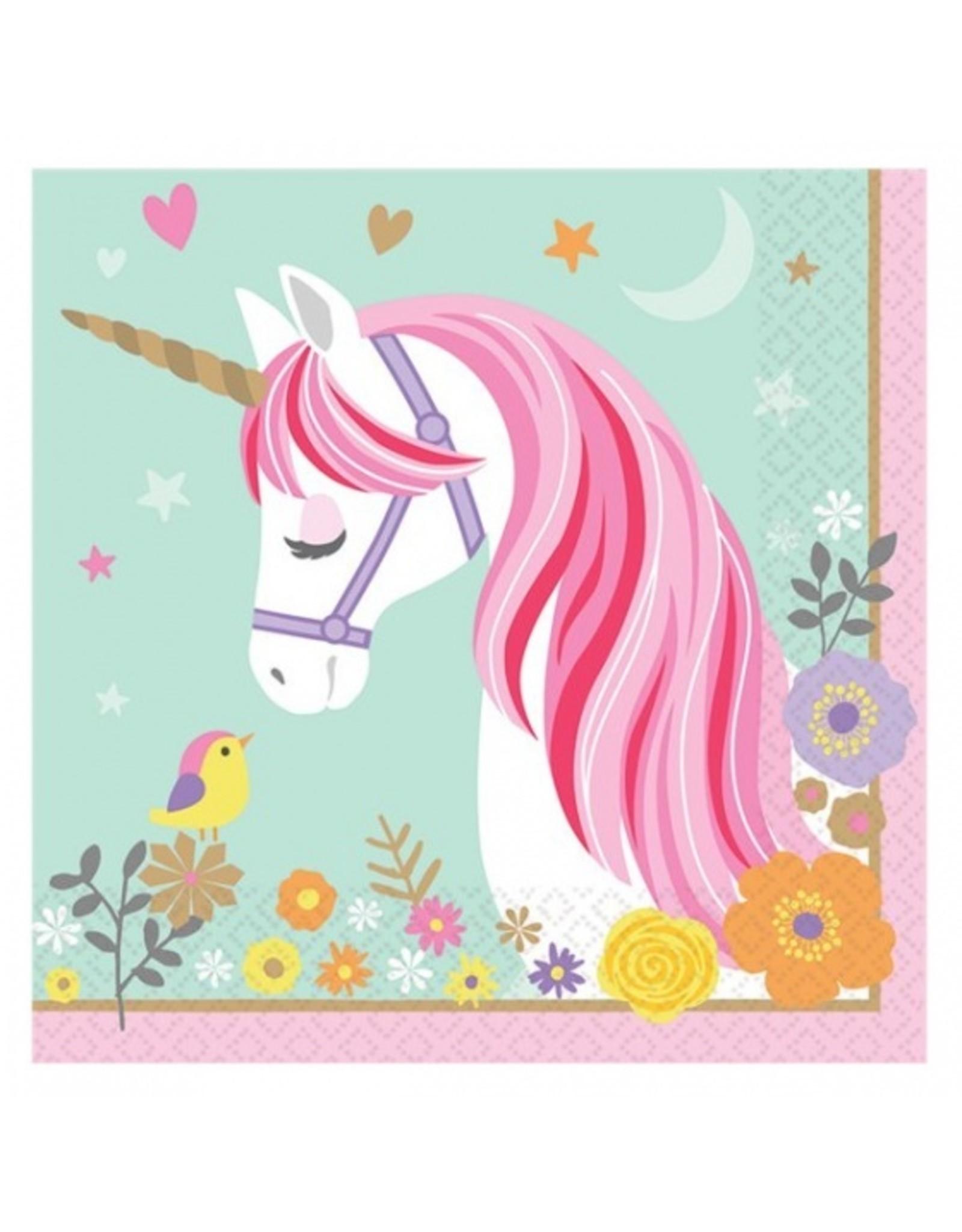 16 unicorn servetten