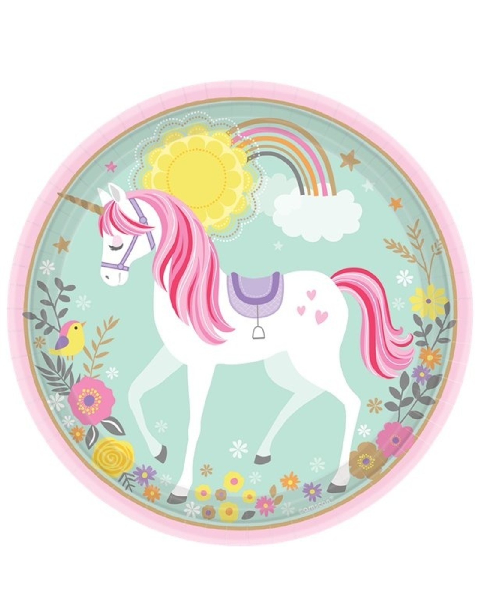 Unicorn bord 23 cm
