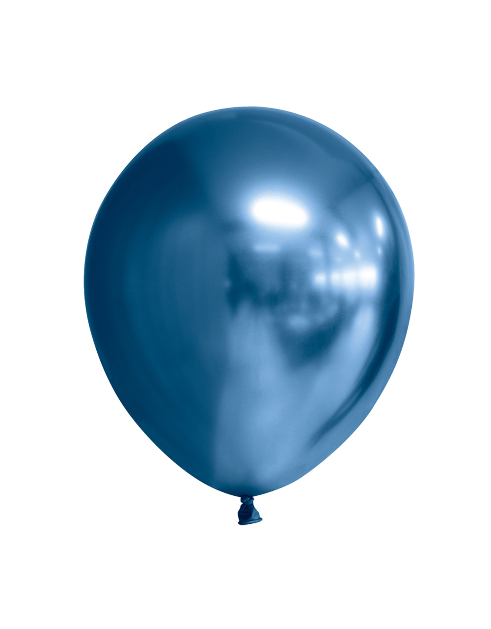 10x Chrome donkerblauwe ballonnen