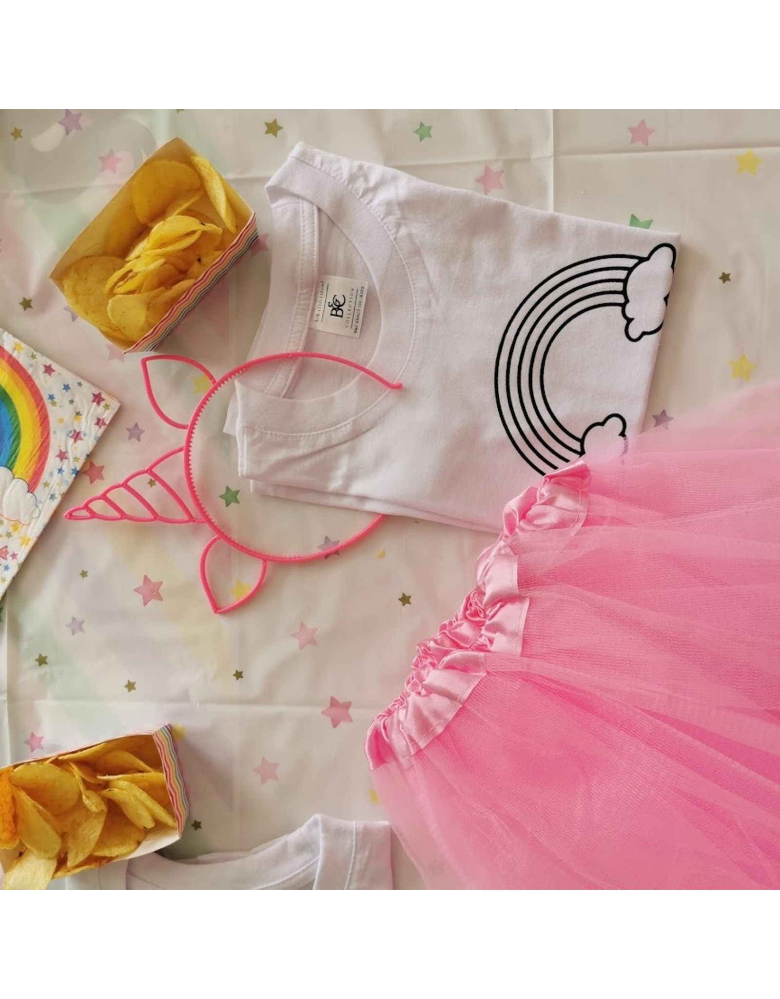 Kleur je eigen t-shirt: regenboog