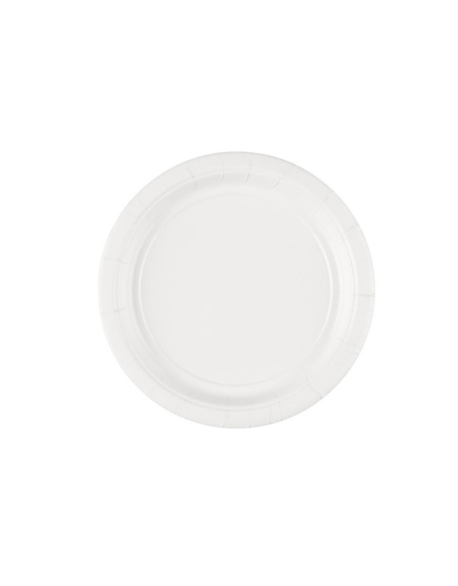 Feestbord wit 8 stuks