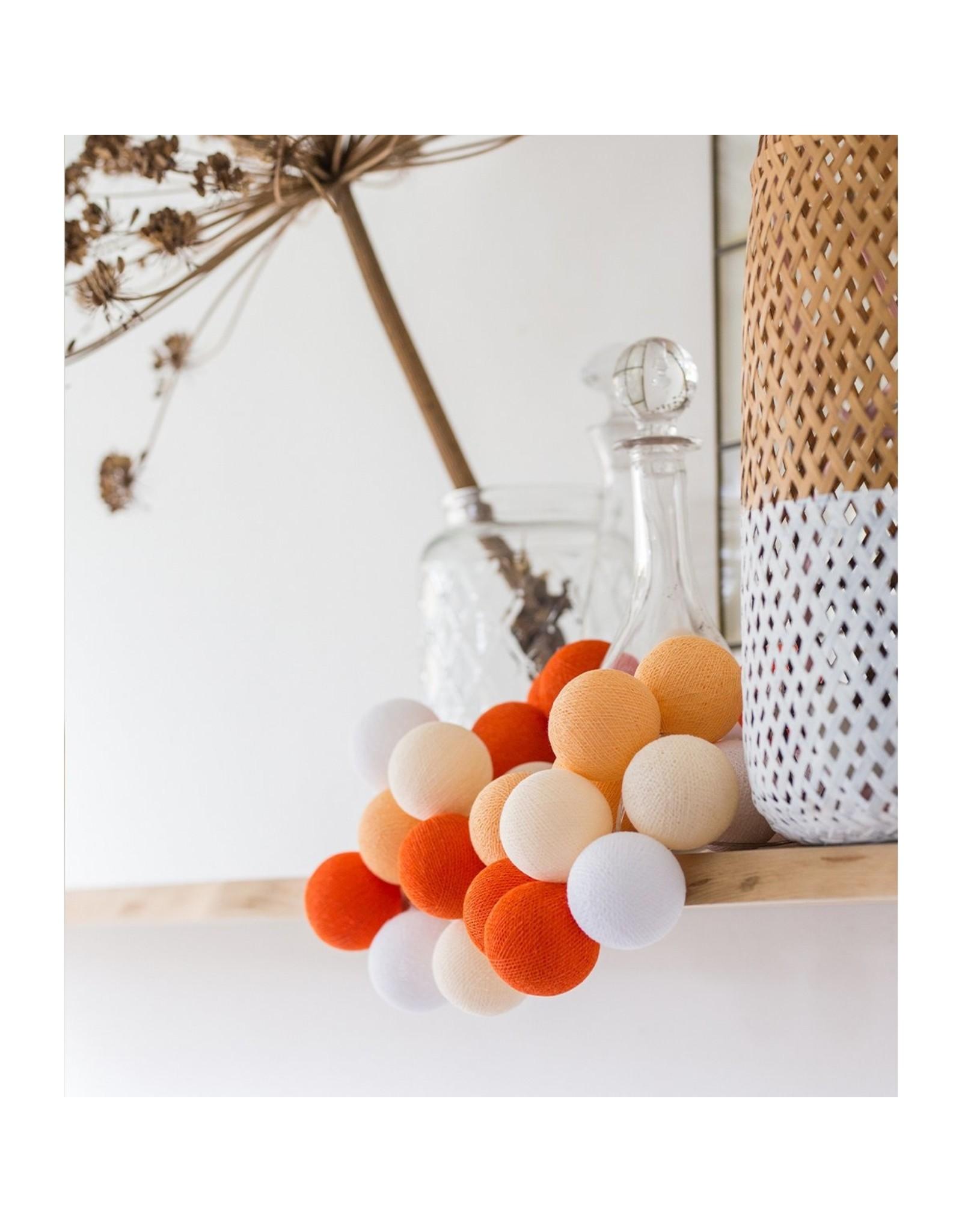 Cotton Ball lichtsnoer: Orange