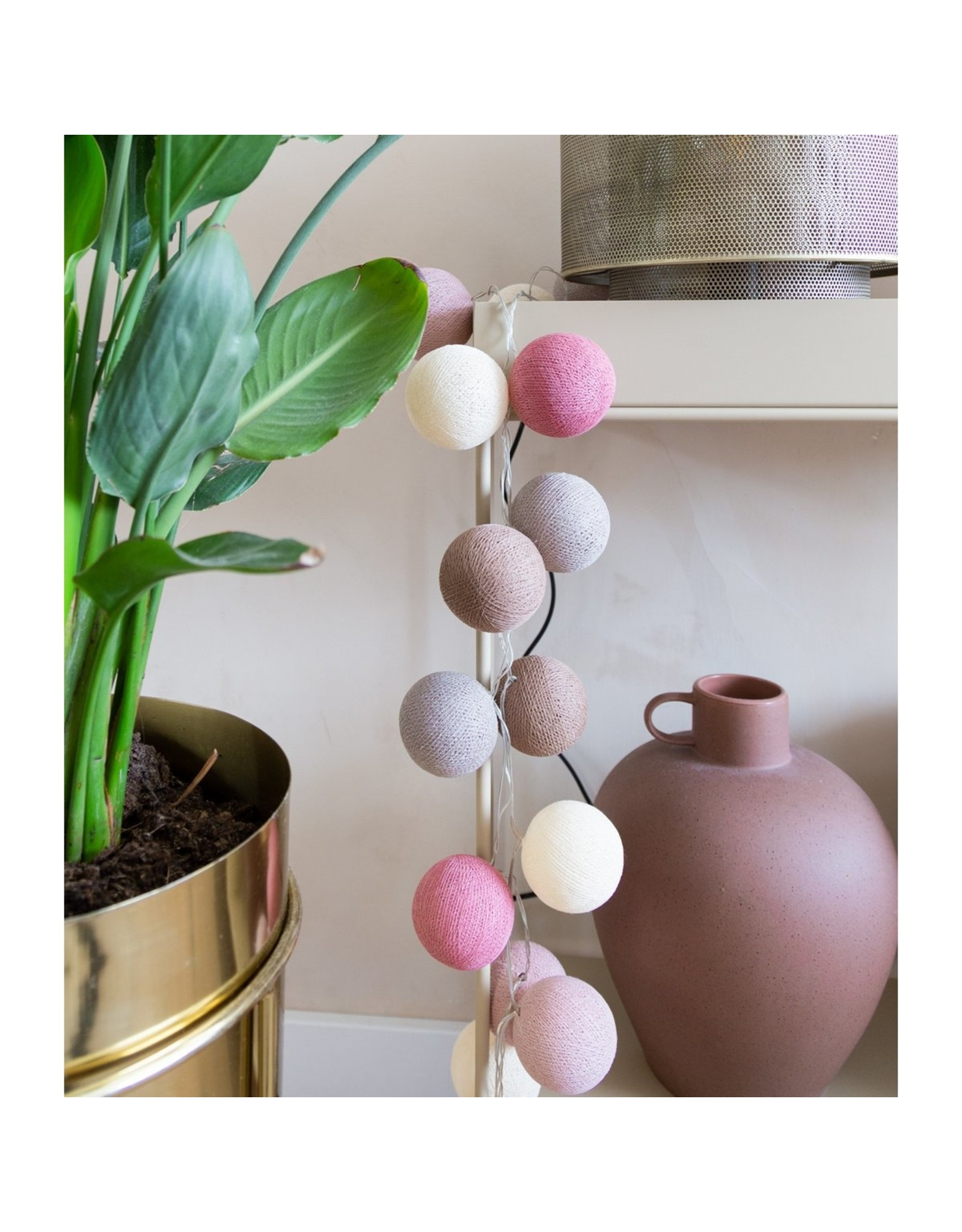 Cotton Ball lichtsnoer: Beloved 50 stuks
