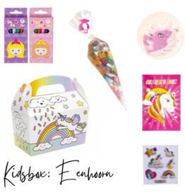Eenhoorn uitdeel cadeau kidsbox: GEVULD