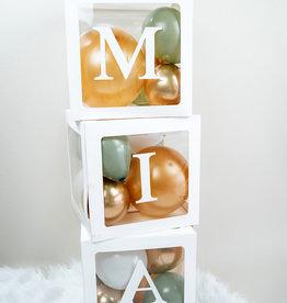 DIY Ballonnen blokken met naam: Goud-groen