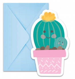 Uitnodigingen verjaardagsfeestje: Cactus