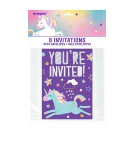 Uitnodigingen verjaardagsfeestje: Unicorn