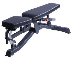 Lifemaxx Crossmaxx® Adjustable bench (black)