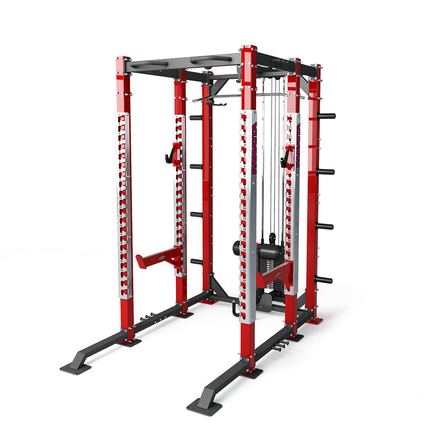 DFC power rack with lat/pulley