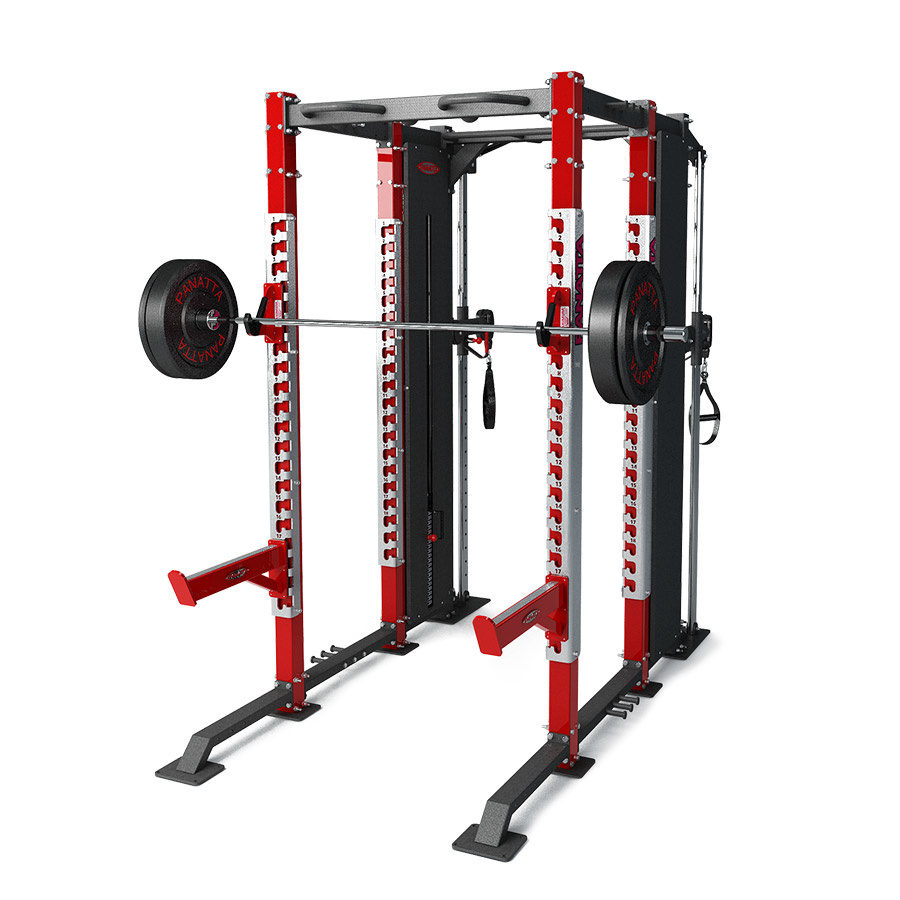 DFC power rack with dual adjustable pulley