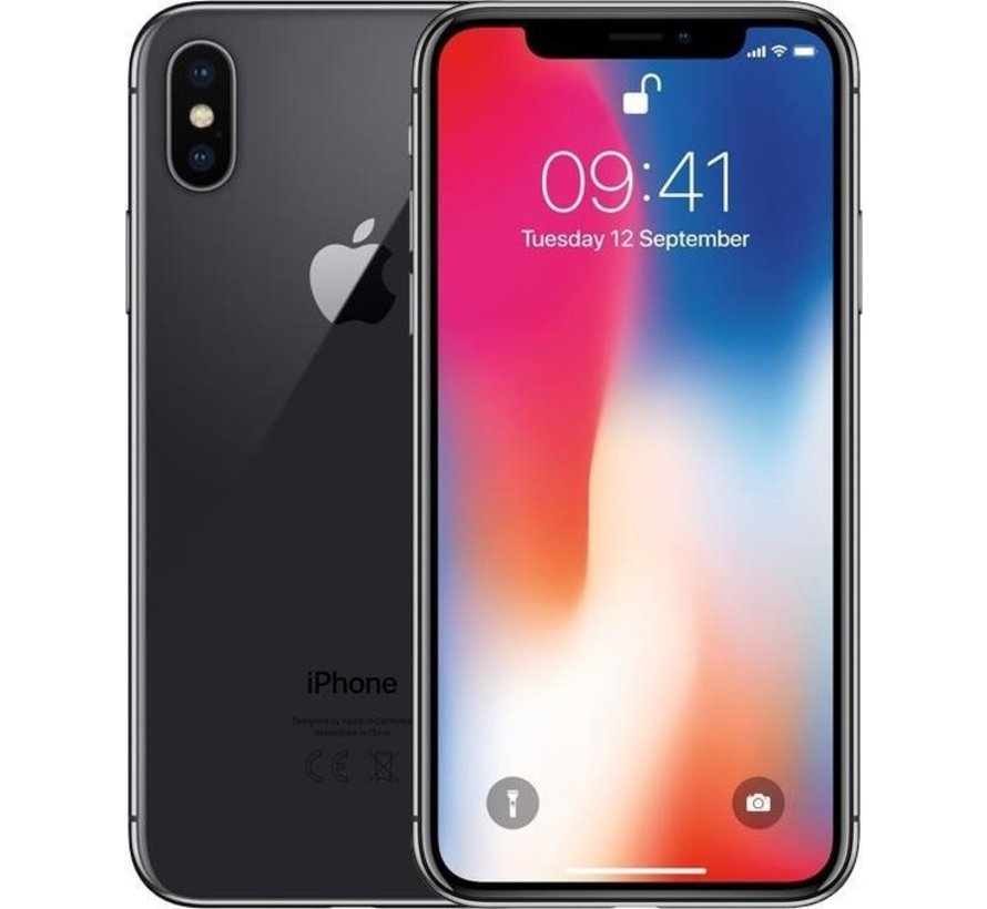 Refurbished iPhone X 256GB Zwart