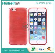 Hishell iPhone 6 Plus/6s Plus Mat Finisch Case rood