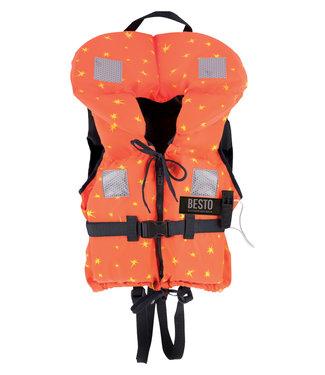 Besto Besto Reddingsvest Kind Premium Special 100N Oranje met Sterren