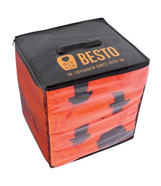 Besto Besto Pakket 4 Reddingsvesten Gulf 100N Oranje met Draagtas