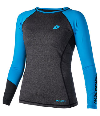 Magic Marine Magic Marine Lycra Shirt Dames Lange Mouw Energy Blauw