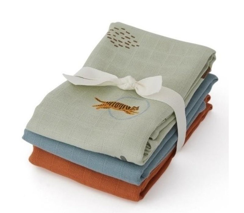 OYOY Muslin Square - TIGER 3 PACK