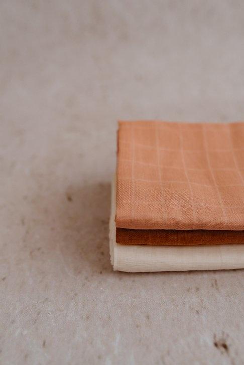 Konges Sløjd Konges Sløjd MUSLIN CLOTHS - ROSE - 3 pack