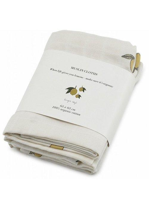 Konges Sløjd Konges Sløjd Muslin cloths - CITROEN - 3 Pack