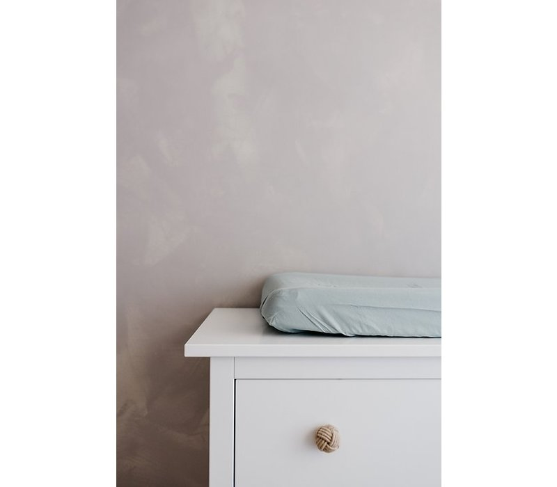 Konges Sløjd FITTED SHEETS FOR CHANGING CUSHION - FRENCH BLUE