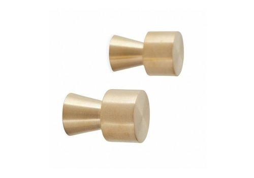 OYOY OYOY Pin Hook / Knob - Gold - 2 pcs