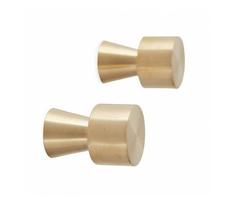 OYOY Pin Hook / Knob - Gold - 2 pcs