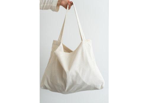 Mayalia MAYALIA On The Road Bag Velvet Rib – OFF-WHITE