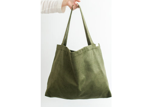 Mayalia MAYALIA On The Road Bag Velvet Rib – OLIVE GREEN