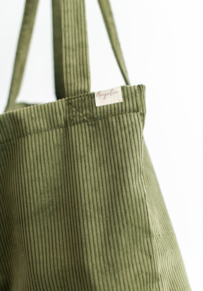 MAYALIA On The Road Bag Velvet Rib – SPRUCE GREEN