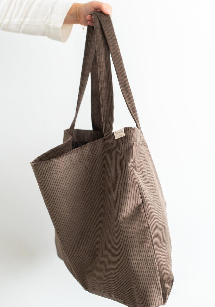 MAYALIA On The Road Bag Velvet Rib – MOCCA BROWN