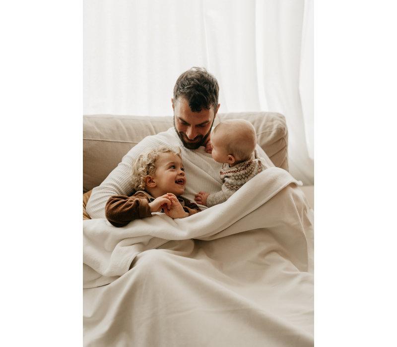 MAYALIA Blanket Suede Teddy - OFF-WHITE