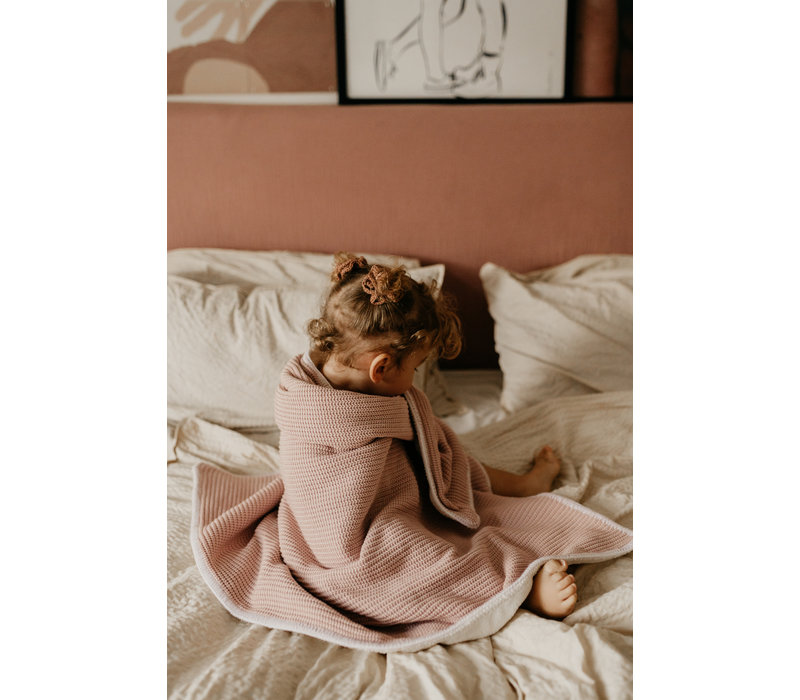 MAYALIA Blanket Knit Teddy - SOFT PINK