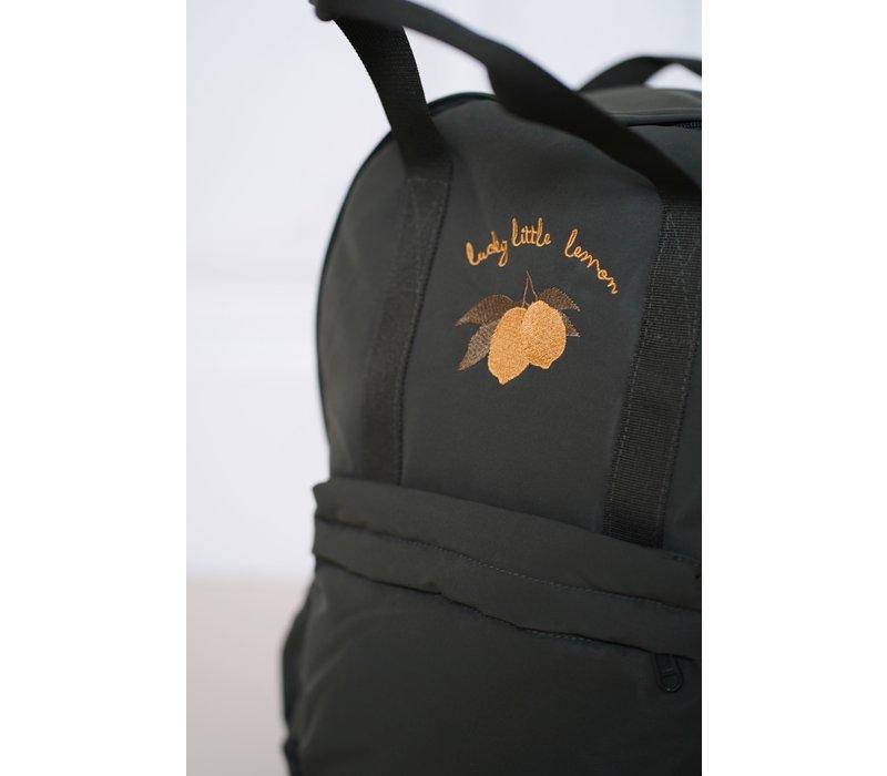 Konges Sløjd Loma JUNIOR Backpack - MOSS GREY LEMON