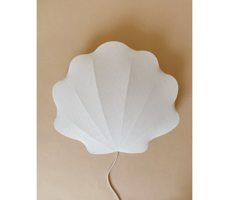 Konges Sløjd Fabric Schelp Lamp Clam - OFF WHITE