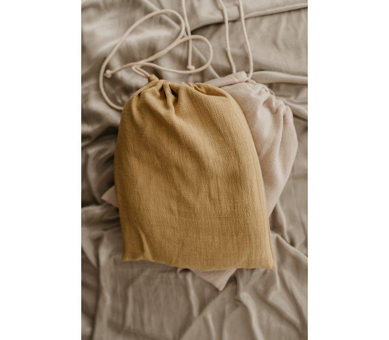 MAYALIA Breastfeeding Cover - LINEN VINTAGE OCHER YELLOW