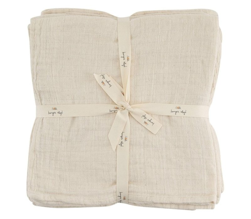 Konges Sløjd Muslin 10 PACK Hydrophilic cloths - NATURE