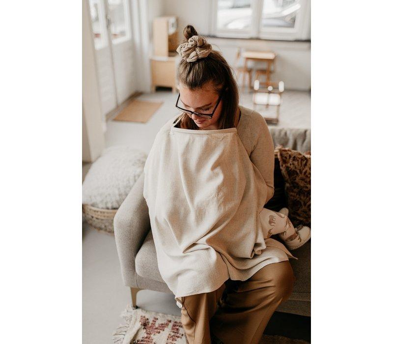MAYALIA Breastfeeding Cover - LINEN VINTAGE TAUPE