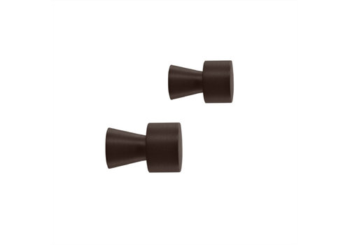 OYOY OYOY Pin Hook / Knob - BLACK 2 pcs